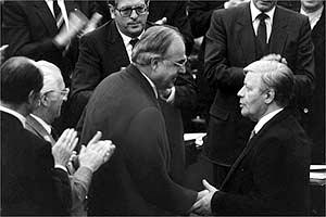 Helmut Kohl und Helmut Schmidt